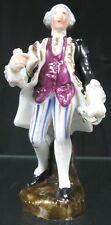 Antique 19th C German Porcelain Figurine Conte Bohme 4� Pen Holder