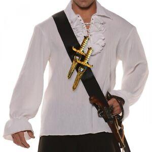 Pirate Costume Sword Belt Adult Medieval Renaissance Halloween Fancy Dress