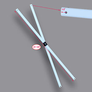 """Ozark Trail SLANT LEG 10 X 10 Canopy MIDDLE TRUSS Bar 31 1/4"""" Replacement Parts"""