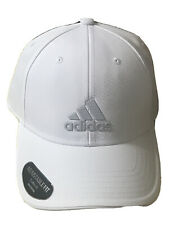 adidas Mens White-Gray Climalite Adjustable Cap Hat