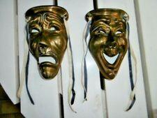 Masque vénitien en bronze  - LA PAIRE