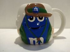 M&M BLUE SAFARI GUIDE (LARGE) SOUP- CHILI- COFFEE MUG- HOLD 24 OZ.- RARE