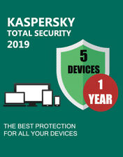 KASPERSKY TOTAL SECURITY 2019 5 DEVICES / PC 1 YEAR LICENSE GENUINE ANTIVIRUS!