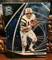 JOE NAMATH 2019 SPECTRA BASE PRIZM REFRACTOR SP /60  JETS