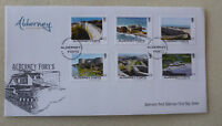 2015 ALDERNEY FORTS SET OF 6 STAMPS FDC FIRST DAY COVER