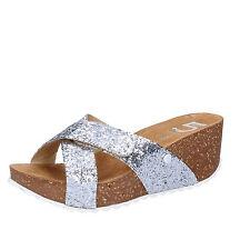 scarpe donna 5 PRO JECT 39 EU sandali argento glitter AC702-E