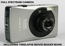 CANON IXUS 75 FULL SPECTRUM DIGITAL CAMERA WITH TIMELAPSE MODE - GHOST HUNTING