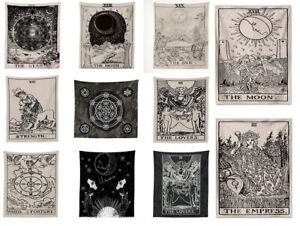 Tarot Wall Art Hanging Fabric Astral Throw Altar Cloth Wiccan Gothic Pagan Gift