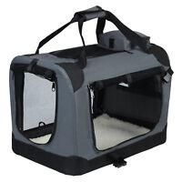 Hundebox Faltbare Hunde Transportbox Katzen Box Reisebox grau HT2025gr