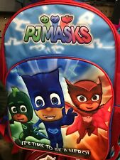PJ Masks Backpack Full Size It's Time to be a Hero School Bag NEW