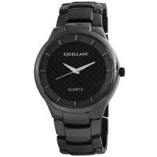 Runde Armbanduhren aus Messing in Schwarz