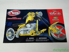 Knex Instruction Manual Only #12009 Mikey's Swing-Arm Bike Instructions Book