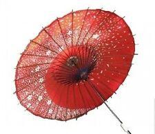 Japanese paper umbrella;Odorigasa Sakura Fubuki red bamboo from japan