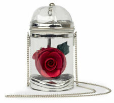 Danielle Nicole Disney Beauty And The Beast Clear Rose Crossbody Purse Brand New