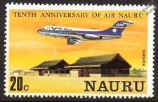 Air Nauru FOKKER F.28 FELLOWSHIP Airliner Aircraft at Tarawa Stamp (1980)