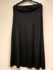Vintage Jc Penney Md Black Nylon Strapless Full Slip Dress Sz 38/16 Lace Trim Po