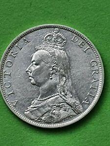 1888 QUEEN VICTORIA JUBILEE CROWN SILVER FLORIN. SUPERB GRADE