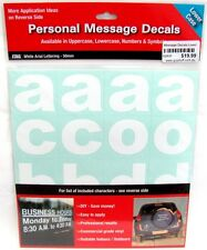 62830 LOWER CASE LETTERS PERSONAL MESSAGE DECAL STICKER SHEET WHITE ARIAL CUSTOM