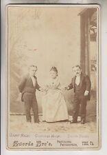 CIRCA 1885 CABINET CARD - DWARVES - COUNT MAGRI - COUNTESS MAGRI - BARON MAGRI