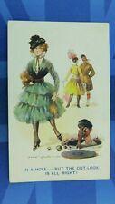 WW1 Fred Spurgin Military Comic Postcard Sweetheart Silk Stockings COAL HOLE
