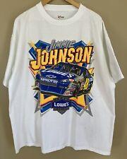 2008 Jimmie Johnson NASCAR Racing XL T-Shirt Lowe's Hendrick Smooth Transition