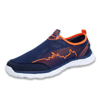Men's Lightweight Slip On Loafers Summer Breathable Water Shoes Mesh Flat Shoes