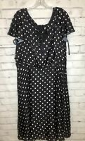 Unique Vintage 3X Retro Rockabilly Swing Salsa Black White Polka Dot Dress