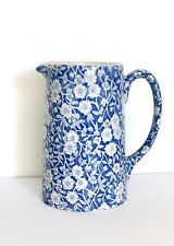 Burleigh Calico Pale Blue 1pt Jug - Displayed Only