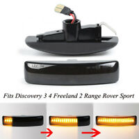 2x Dynamic LED Side Indicators Repeater Light For Range Rover Discovery 3 4