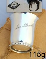 Antique French Sterling Silver Wine Julep Tumbler Timbale Pearls Chains RAVINET
