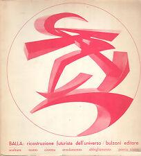 FUTURISMO GIACOMO BALLA RICOSTRUZIONE A CURA DI MAURIZIO FAGIOLO DELL'ARCO 1968