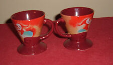 2-Espresso Cups by Linda Firchtel Signed