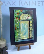 Listed Artist = C PETERSON = ORIGINAL OIL PAINTING = Bas Relief = The Window