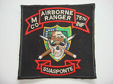 "Nam War Patch - M Company AIRBORNE RANGER 75th Infantry Regiment ""SUA SPONTE"""