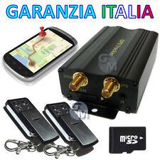 TRACKER GPS ANTIFURTO LOCALIZZATORE SATELLITARE TK104 PRO 2 TELECOMANDI SIRENA