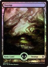 Battle for Zendikar  MTG Full Art Foil  Swamp 260  Magic