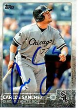 Carlos Sanchez Chicago White Sox 2015 Topps Signed Card