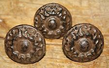 6 Cast Iron Antique Victorian Style ROUND Drawer Pull, Barn Handle, Door Handles