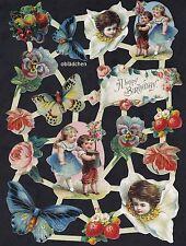 #feuilles CHROMOS# ARC EN HOLLANDE 17, fleurs, enfants, papillons, fruits