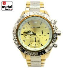 Men's NEW Luxury Fashion Analog Stainless Steel Heavy Metal Band Watches 1262 TT