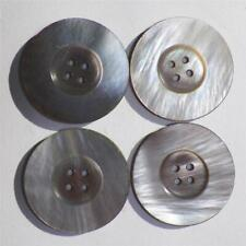 4 Vintage Mother of Pearl Buttons Silvery Gray Iridescent Coat Jacket Dress #2
