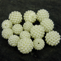 10mm 11mm 14mm   Ivory Pearl Cluster Resin Pearls Craft Wedding Beads Gems P21