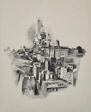 Robert DELAUNAY - lithographie originale - Paris, Montmartre et le Sacré-Coeur