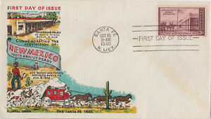 S21.2044 FDC 1946 New Mexico 100 Years A State FLUEGEL Cachet 3 Cent NM Stamp
