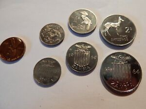 1964 Zambia 3 Coin Set of Proof Coins 6 Pence 1 Shilling & 2 Shilling 5k Minted