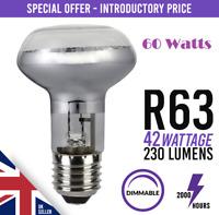 10x R63 Dimmable Halogen Downlighter Reflector Spot Light Bulb E27 ES 42w 60w