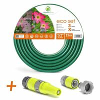 15M QUALITY 3 LAYER -EINFORCED GARDEN HOSE PIPE WITH SPRAY WATERING NOZZLE SET