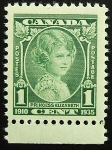 Canada Scott #211 MNH, 1cent, Princess Elizabeth, Nice Margins!