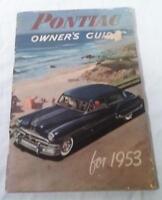 VINTAGE 1953 PONTIAC OWNER'S GUIDE