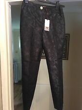 """Ladies """"Ted Baker"""" Trousers BNWT Size Small Black With Pattern On"""